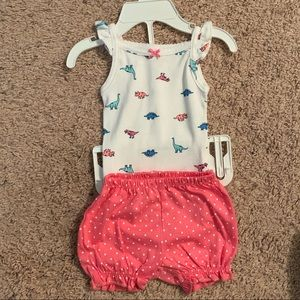 Carters newborn girls Dino print outfit